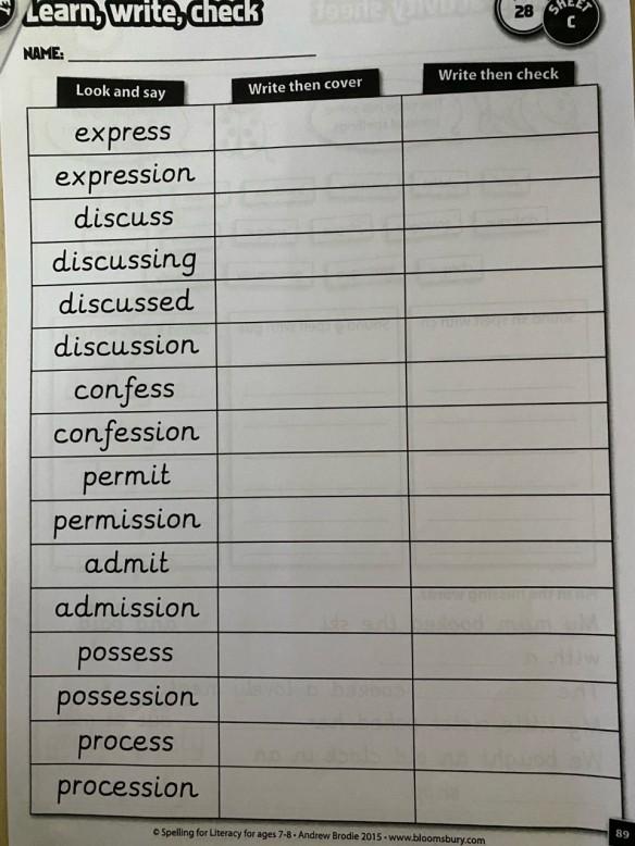 blog spellings